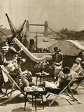 The Pool from the Roof Garden of the Langbourne Club for City Women Photographic Print