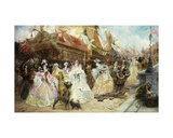 The Royal Entourage Giclee Print by Georges Clairin