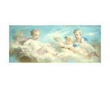 Putti Frolicking in the Clouds Giclee Print by Charles Chaplin