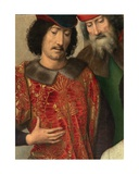Detail of the Left Panel of the Triptych of Saint John the Baptist and Saint John the Evangelist,… Giclee Print by Hans Memling