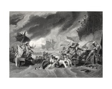 Battle of La Hogue, Engraved by W. French Giclee Print by Benjamin West