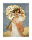 The Parasol Giclee Print by Francois Martin-kavel