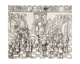 Pope Urban II Presiding over the Council of Clermont in 1095, from 'Military and Religious Life… Giclee Print
