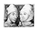 Portrait of Israhel Van Meckenem and His Wife Ida, C.1490 Giclee Print by Israhel van, the younger Meckenem