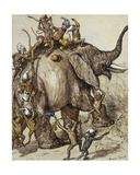 Monkey Capers Giclee Print by Ernest Henry Griset
