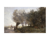 The Willows at La Pointe De L'Ile Giclee Print by Jean-Baptiste-Camille Corot