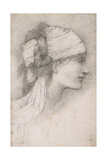 Study of a Female Head, to Right, 1889 Giclee Print by Sir Edward Coley Burne-Jones
