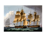 Capture of the Furie and Waakzaamheid, October 23rd 1796, from 'The Naval Achievements of Great… Giclee Print by Thomas Whitcombe