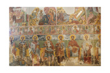 Byzantine Art. Greece. Frescoes from the Monastery of St. Andrew in Mesovouni Volimes. Anonymous.… Giclee Print