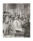Pope Gregory IX Handing the Decretals to an Advocate of the Consistory, from 'Military and… Giclee Print