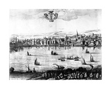 A View of the River Thames from Southwark, 1650 Giclee Print by Rombout Van den Hoeye