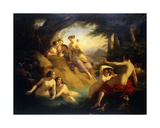 Diana and Her Nymphs by a Woodland Stream, 1846 Giclee Print by Emil Jacobs