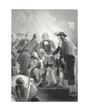 The Landing of William 3rd at Torbay, Engraved by A.H. Payne Giclee Print by Thomas Stothard