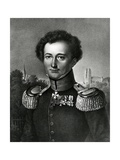 Carl Von Clausewitz, Print Made by F. Michelis, 1830 Giclee Print by Karl Wilhelm Wach