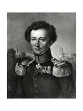Carl Von Clausewitz, Print Made by F. Michelis, 1830 Giclee Print by Karl Wilhelm Wach