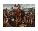Mars, Surrounded by the Arts and Sciences, Conquers Ignorance, 1605 Giclee Print by Anthuenis Claeissins Or Claeissens