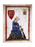 Walther Von Der Vogelweide (1170-1230). Codex Manesse (Ca.1300) Giclee Print