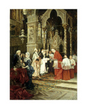 The Christening Giclee Print by Ettore Simonetti