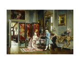 Figures in an Elegant Interior, 1879 Giclee Print by Ignacio Leon Y Escosura