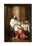 A Cup of Chocolate, 1844 Giclee Print by Charles Beranger