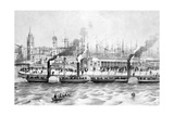 George's Landing Stage, Pier Head, Liverpool, C.1855 Giclee Print