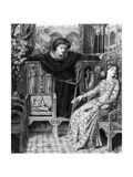 Hamlet and Ophelia, 1858 Giclee Print by Dante Charles Gabriel Rossetti