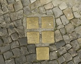 Holocaust Memorial Plaques in Scheunenviertel, Berlin Photographic Print