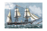 Frigate 'Blanca' of the Spanish Navy Aimed at a Voyage of Circumnavigation Stampa giclée