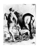 Boy with a Horse and Two Dogs, C.1597-1610 Giclee Print by Adam Elsheimer