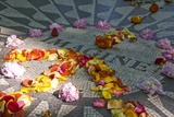 John Lennon Tribute in Strawberry Fields in Central Park, New York Photographic Print