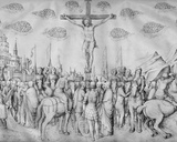 Crucifixion, from the Jacopo Bellini's Album of Drawings Photographic Print by Jacopo Bellini
