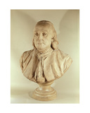 Bust of Benjamin Franklin Giclee Print by Jean-jacques Caffieri