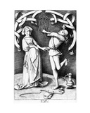 The Juggler and the Woman, C.1495-1503 Giclee Print by Israhel van, the younger Meckenem