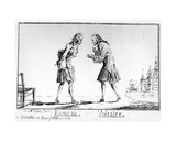 Rameau and Voltaire at Belleville, 1763 Giclee Print by Abbé Charles-Philippe Campion de Tersan