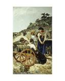 An Italian Market Scene Giclee Print by Giovanni Montelatici