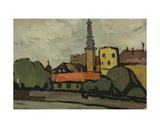 The Embankment in Riga, 1958 Giclee Print by Nina Ivanovna Shirokova