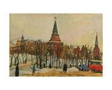 Aleksandrovskii Garden by the Kremlin, Moscow, 1960s Giclee Print by Natalia Aleksandrovna Gippius