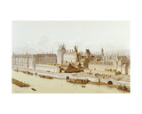 The Louvre and the Hôtel Du Petit-Bourbon in 1622 During the Reign of Louis Xiii, 1885 Giclee Print by Theodor Josef Hubert Hoffbauer