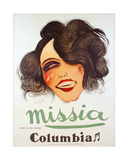 Columbia Records Poster Advertising the French Chanteuse, Missia, C.1935 Giclee Print by Charles Felix Gir