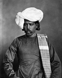 Portrait of a Man, from 'The Costumes and People of India', C.1860 Photographic Print by Willoughby Wallace Hooper
