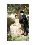 A Courting Couple, 1880 Giclee Print by Jules Arsene Garnier