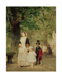 Promenade in the Tuileries Gardens, 1855 Giclee Print by Ludwig Knaus