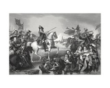 Battle of the Boyne, Engraved by W. French Giclee Print by Benjamin West