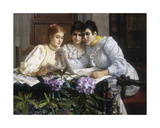 Selecting the Trousseau Giclee Print by Eugen Von Blaas