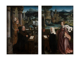 Donor with Saint Nicholas and Donor's Wife with Saint Godeliva, C.1515-21 Giclee Print by Jan Provoost
