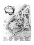 A Plan of the House and Gardens at Stowe, Buckinghamshire Giclee Print by Johann Sebastien Muller