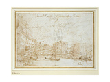 The Ponte De Rialto Giclee Print by  Canaletto