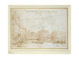 The Ponte De Rialto Giclee Print by  Canaletto