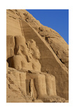 Egyptian Art. Great Temple of Ramses II. Two Colossal Statues Depicting the Pharaoh Ramses II… Giclee Print