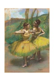 Dancers with Yellow Skirts (Two Dancers in Yellow), C.1896 Giclee Print by Edgar Degas